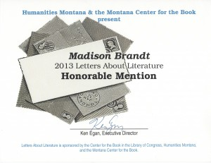 Madison Honorable Mention 2013