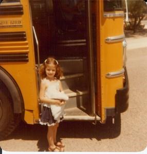 Vicki, 1st day of kindergarten